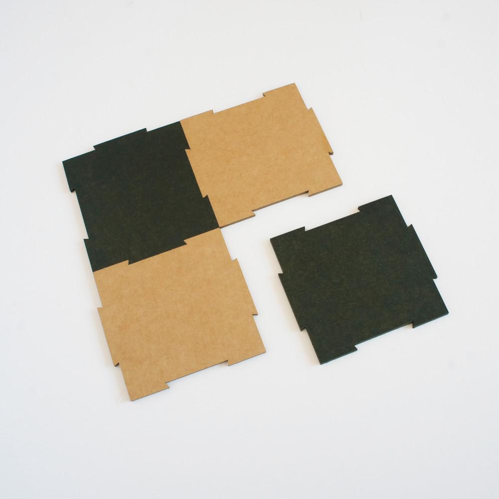 Petits carrés  - vert et kraft